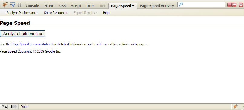 Page Speed Console
